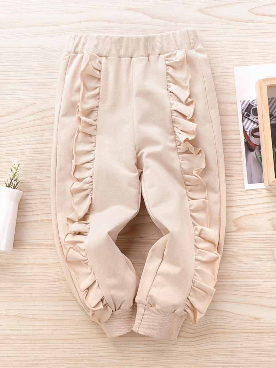 LW lovely Casual Stringy Selvedge Apricot Girl Pants