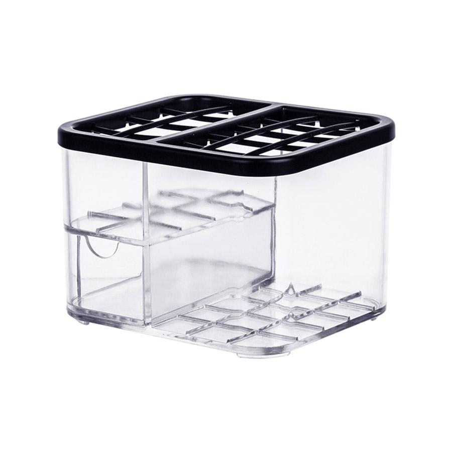 Dresser Transparent Cosmetic Plastic Pure Color Storage Box