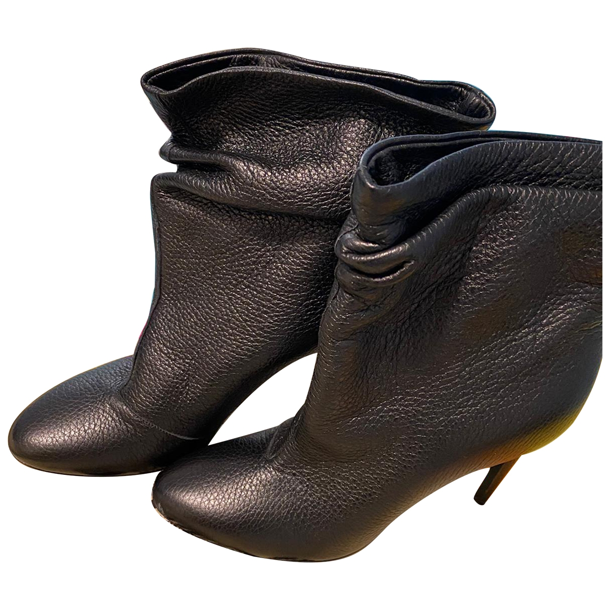 Burberry \N Black Leather Ankle boots for Women 38 EU