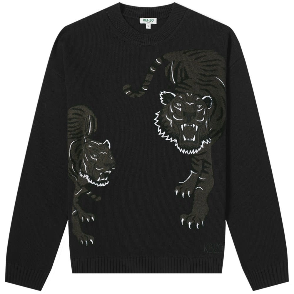 Kenzo Jungle Tiger Knitted Jumper Colour: BLACK, Size: MEDIUM