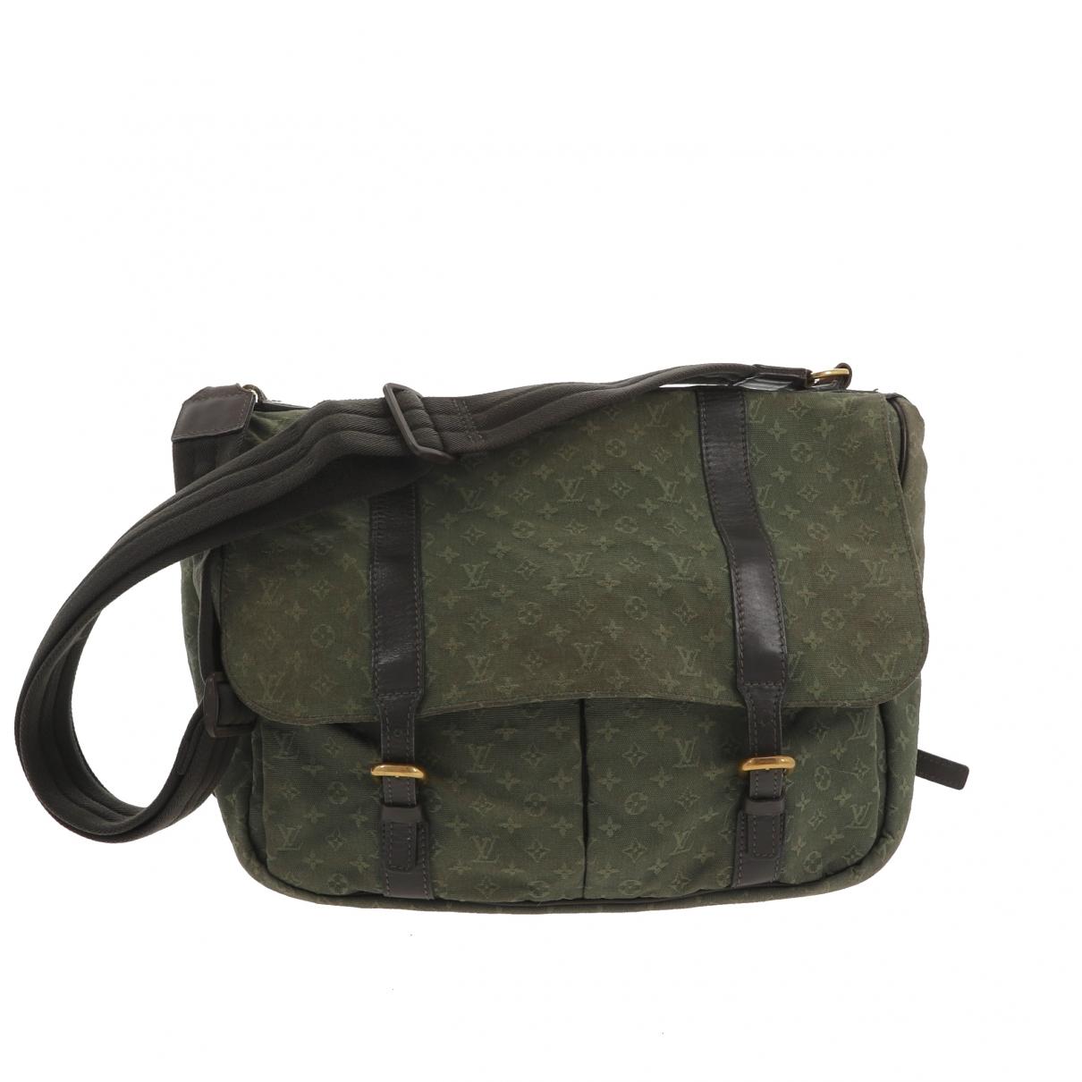 Louis Vuitton \N Khaki Cloth handbag for Women \N