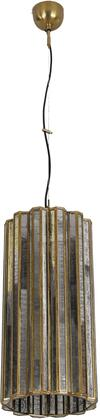 ZWBLICLR-2 Bali Collection Boho Tall Round Glass Hanging Pendant