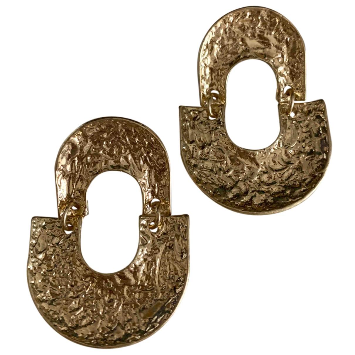 - Boucles doreilles Art Deco pour femme en autre - dore