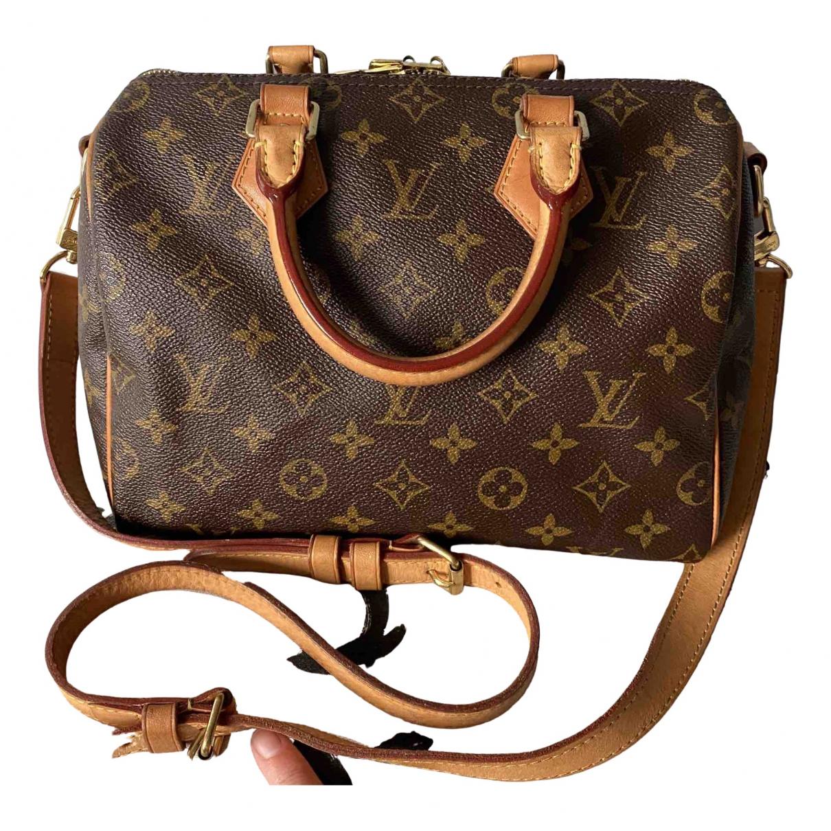 Louis Vuitton Speedy Bandoulière Brown Cloth handbag for Women \N