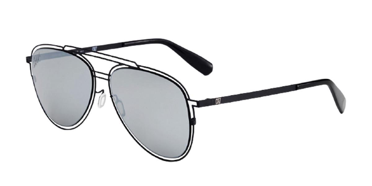 CR7 Cristiano Ronaldo GS001 009000 Mens Sunglasses Black Size 58