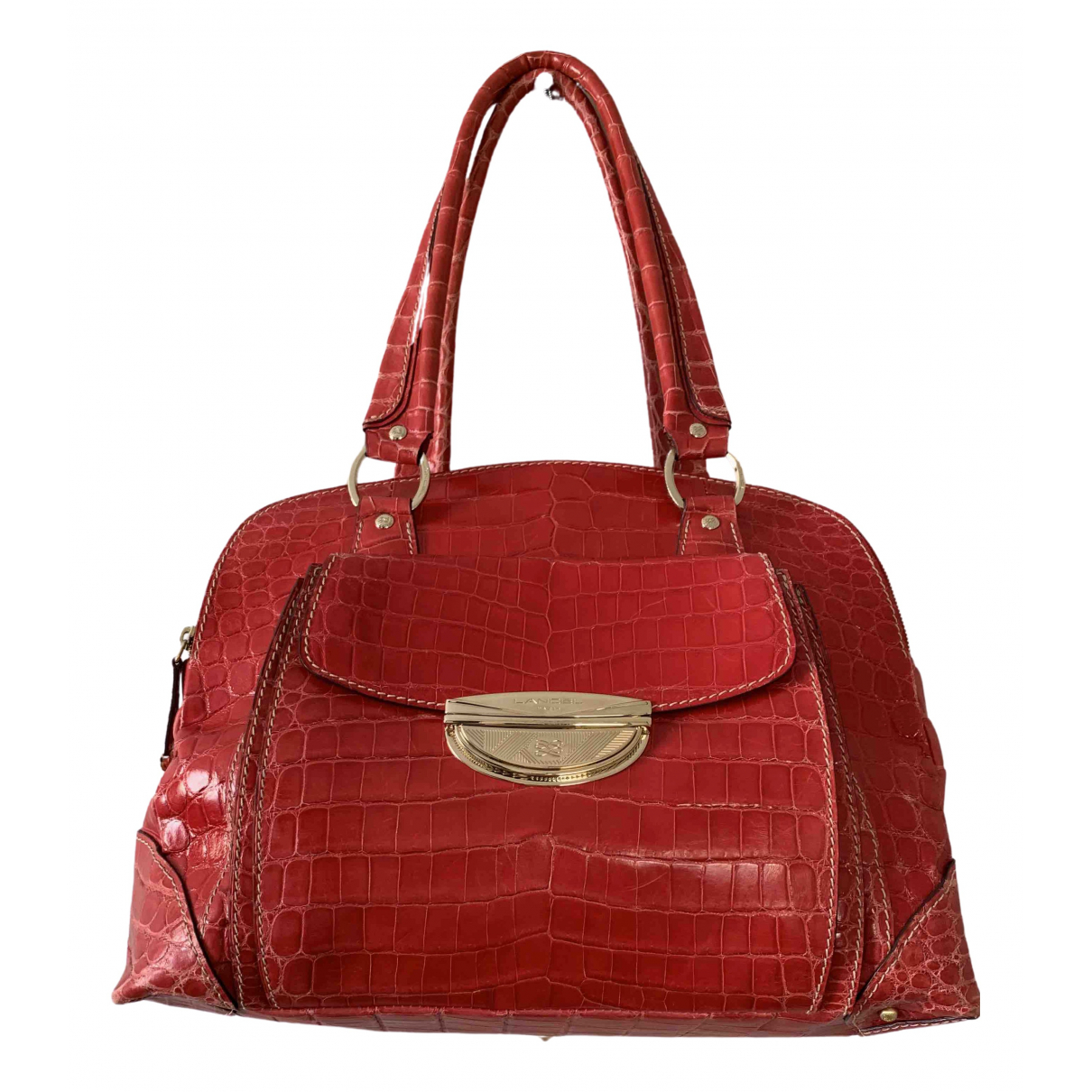 Lancel Adjani Red Alligator handbag for Women \N
