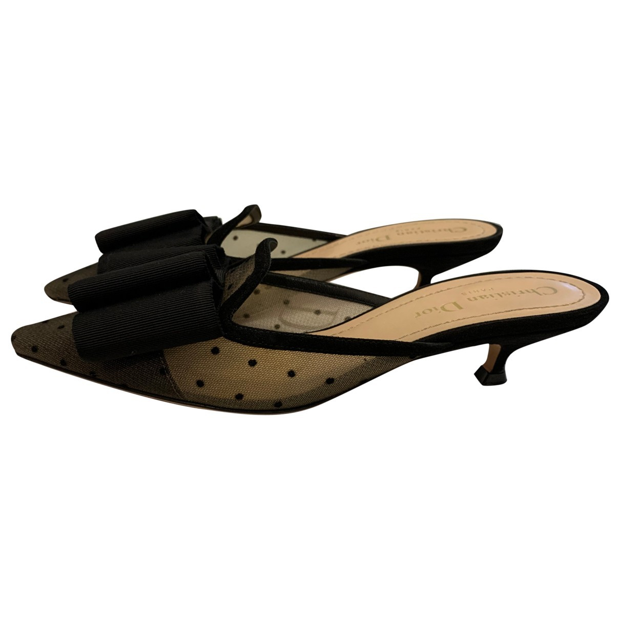 Dior \N Sandalen in  Schwarz Polyester