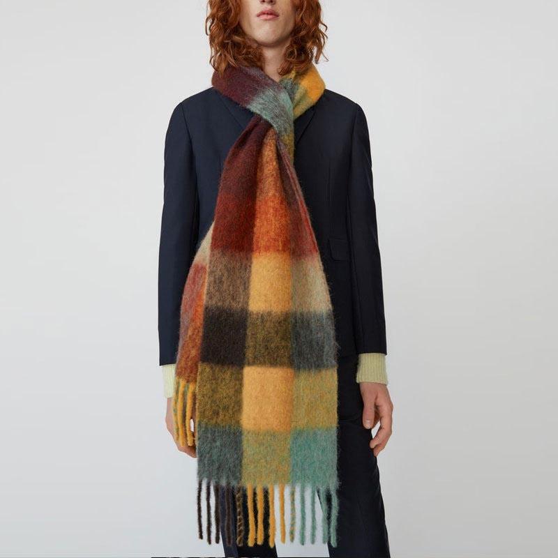 Ericdress Wool Blend Tassel Plaid Scarves