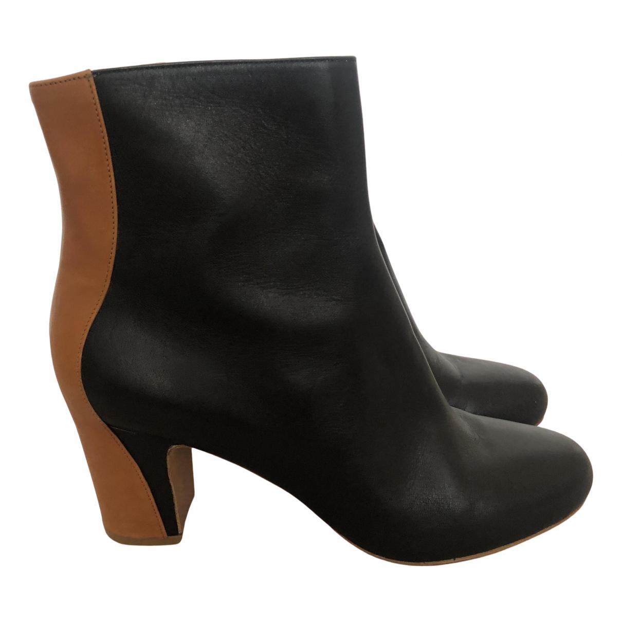 Maison Martin Margiela - Boots   pour femme en cuir - noir
