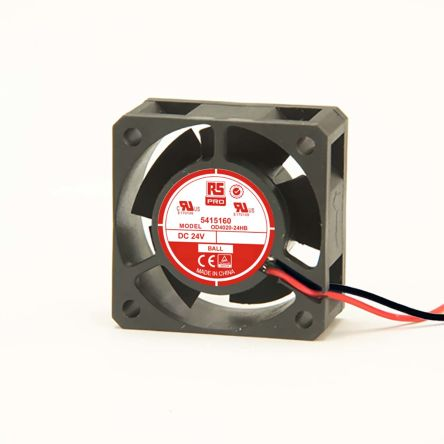 RS PRO , 24 V dc, DC Axial Fan, 40 x 40 x 20mm, 15.3m³/h, 2.2W