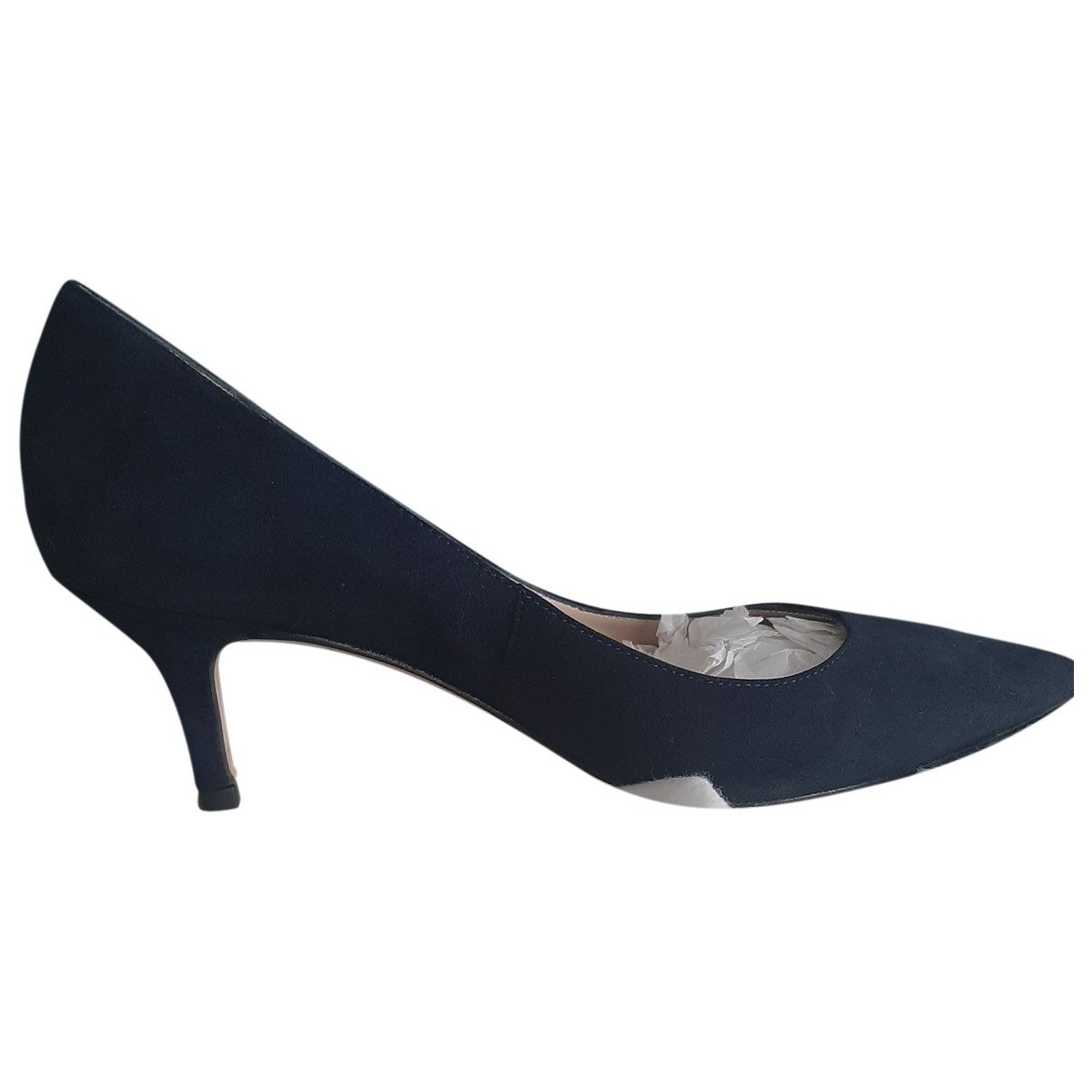 Lk Bennett \N Blue Suede Heels for Women 38 EU