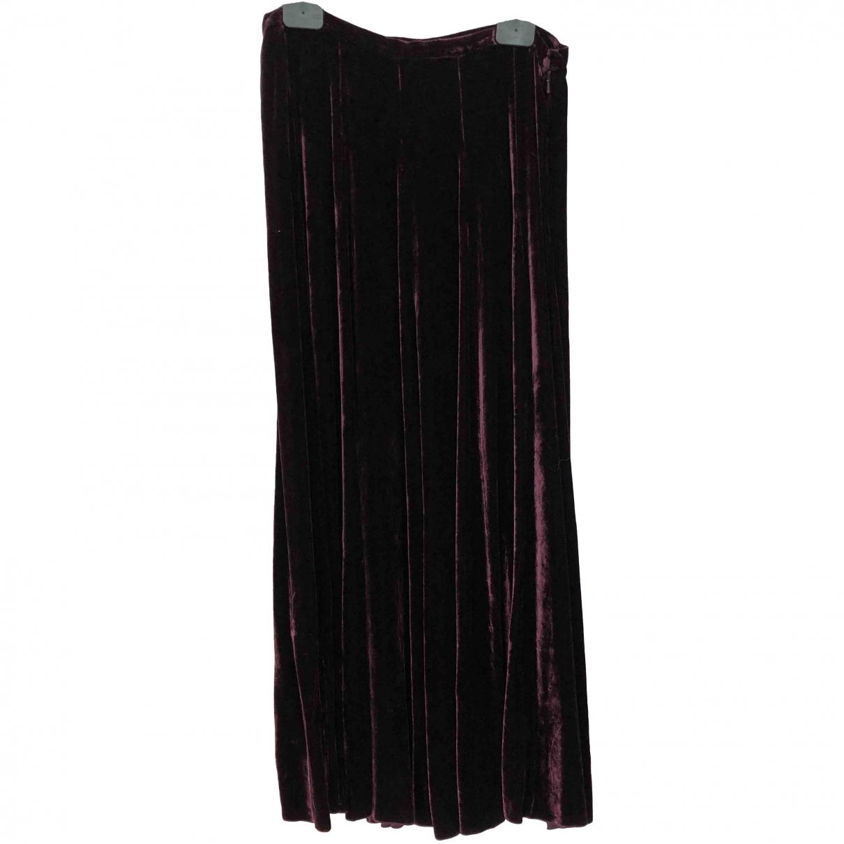 Jigsaw \N Burgundy Silk skirt for Women 12 UK