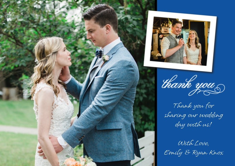 Thank You Cards Flat Matte Photo Paper Cards with Envelopes, 5x7, Card & Stationery -Thank You Tilted Photo Top