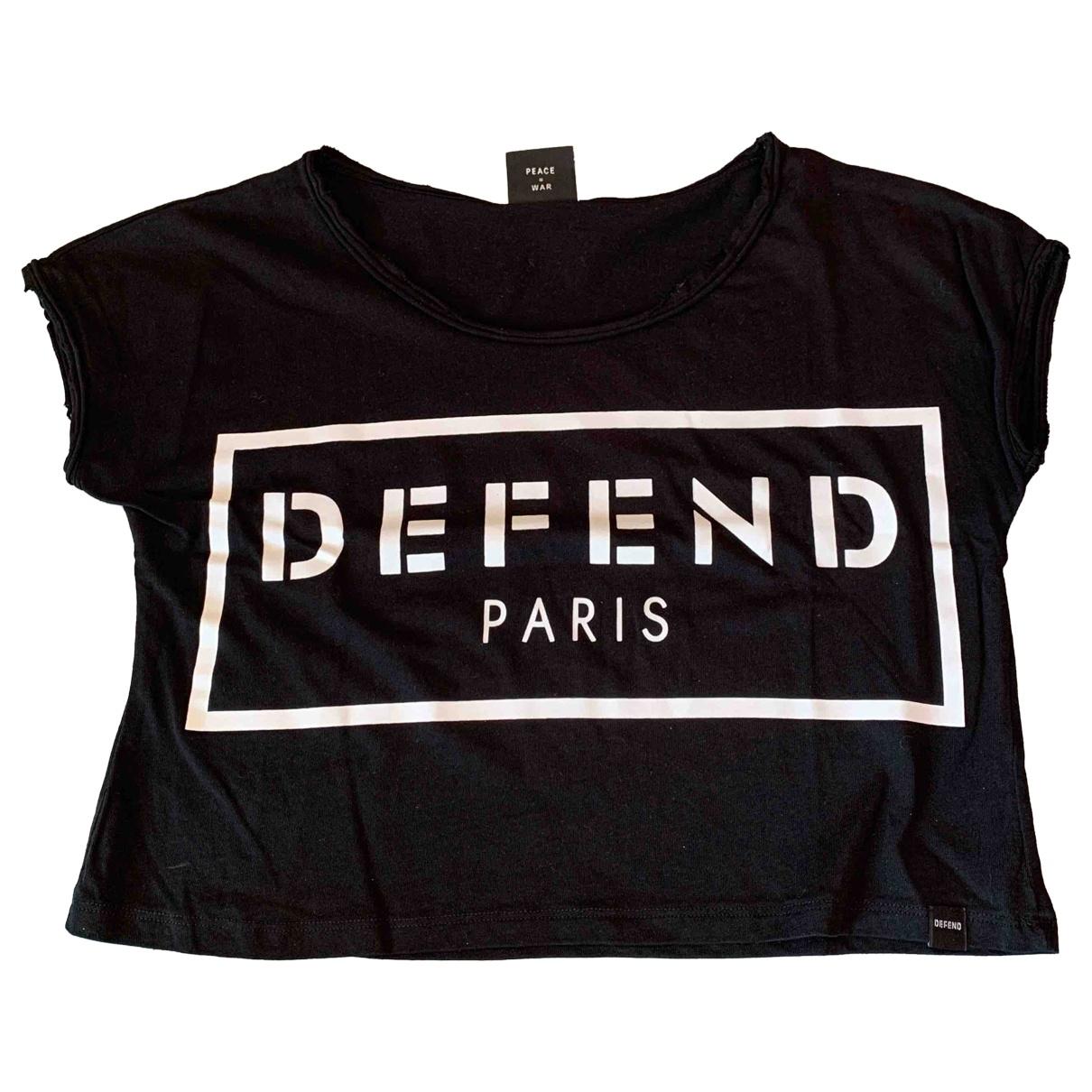 Defend Paris - Top   pour femme en coton - noir