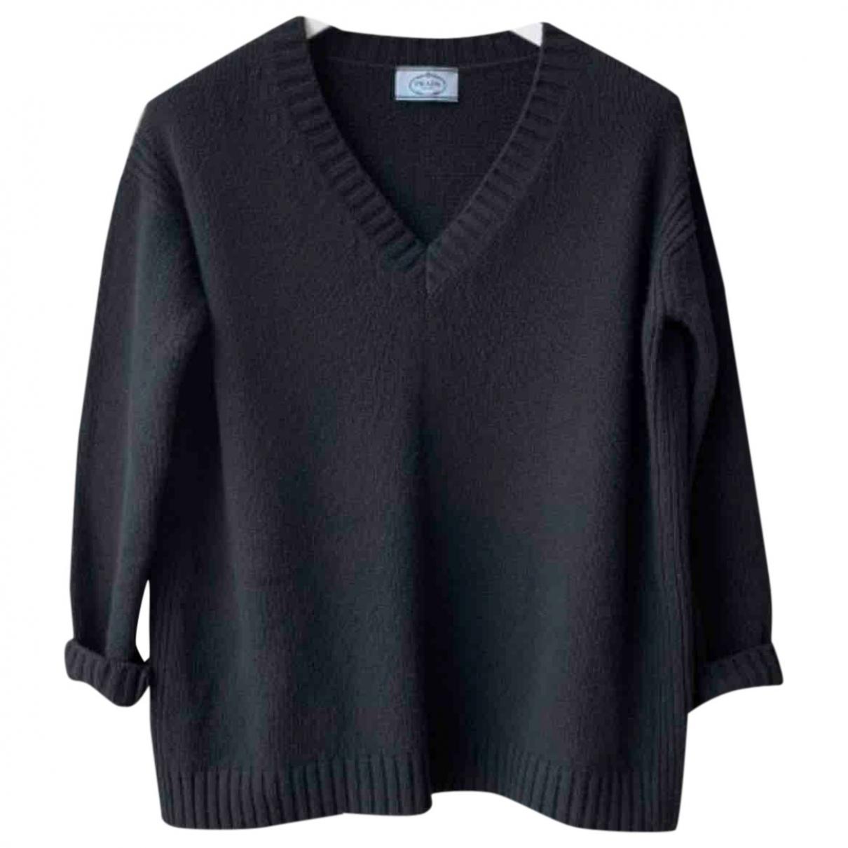 Prada - Pull   pour femme en laine - noir