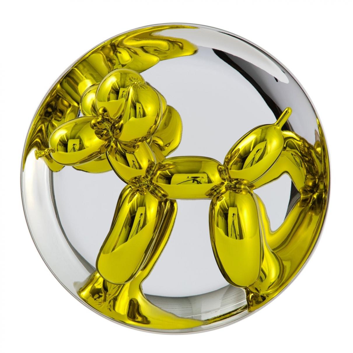 Jeff Koons - Art   pour lifestyle en porcelaine - jaune