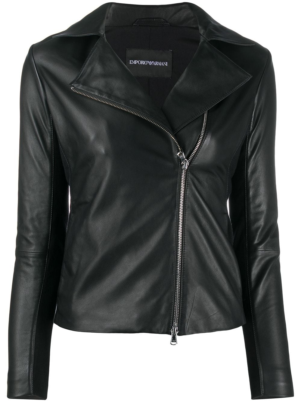 Leather Caban Coat