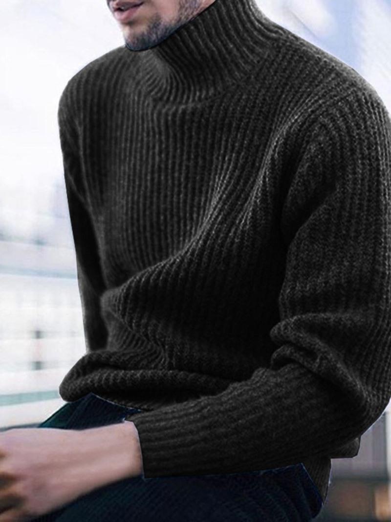Ericdress Plain Turtleneck Standard Casual Winter Sweater