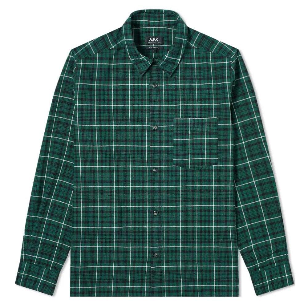 A.p.c Surchemise Shirt Colour: GREEN, Size: SMALL