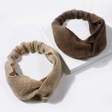 2pcs Simple Plain Headband