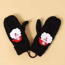 Handschuhe mit Weihnachtsmann Muster