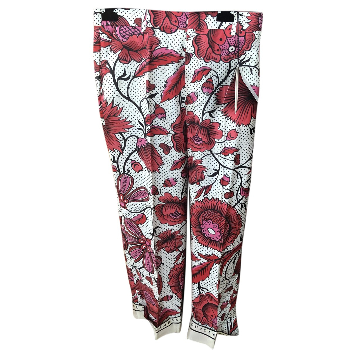 Gucci N Multicolour Silk Trousers for Women 44 IT
