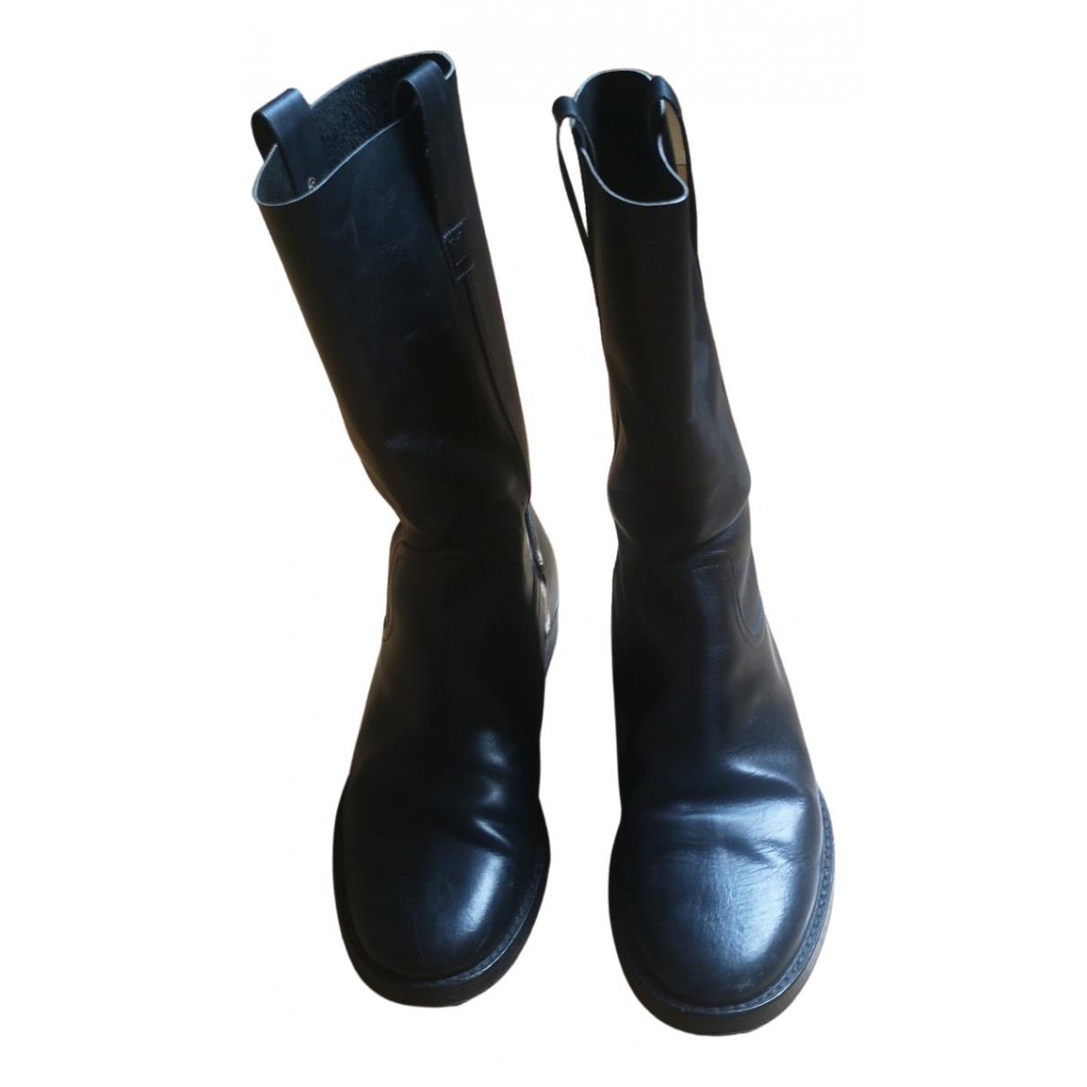 Louis Vuitton N Black Leather Boots for Men 42.5 EU