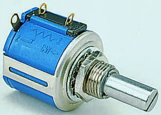 Bourns 1 Gang 10 Turn Rotary Wirewound Potentiometer with an 6.35 mm Dia. Shaft - 1kΩ, ±5%, 2W Power Rating, Linear,