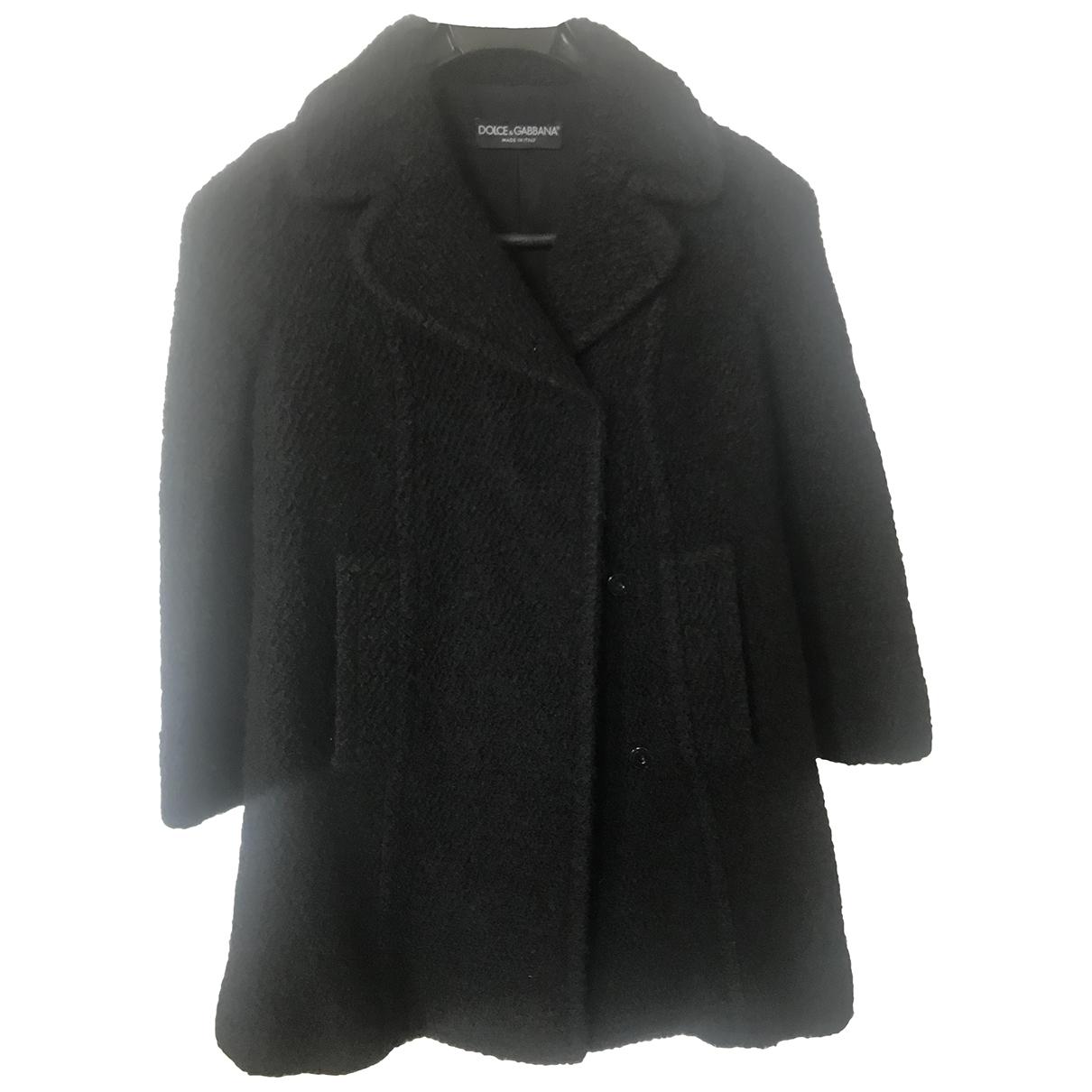 Dolce & Gabbana \N Black Wool coat for Women 40 IT