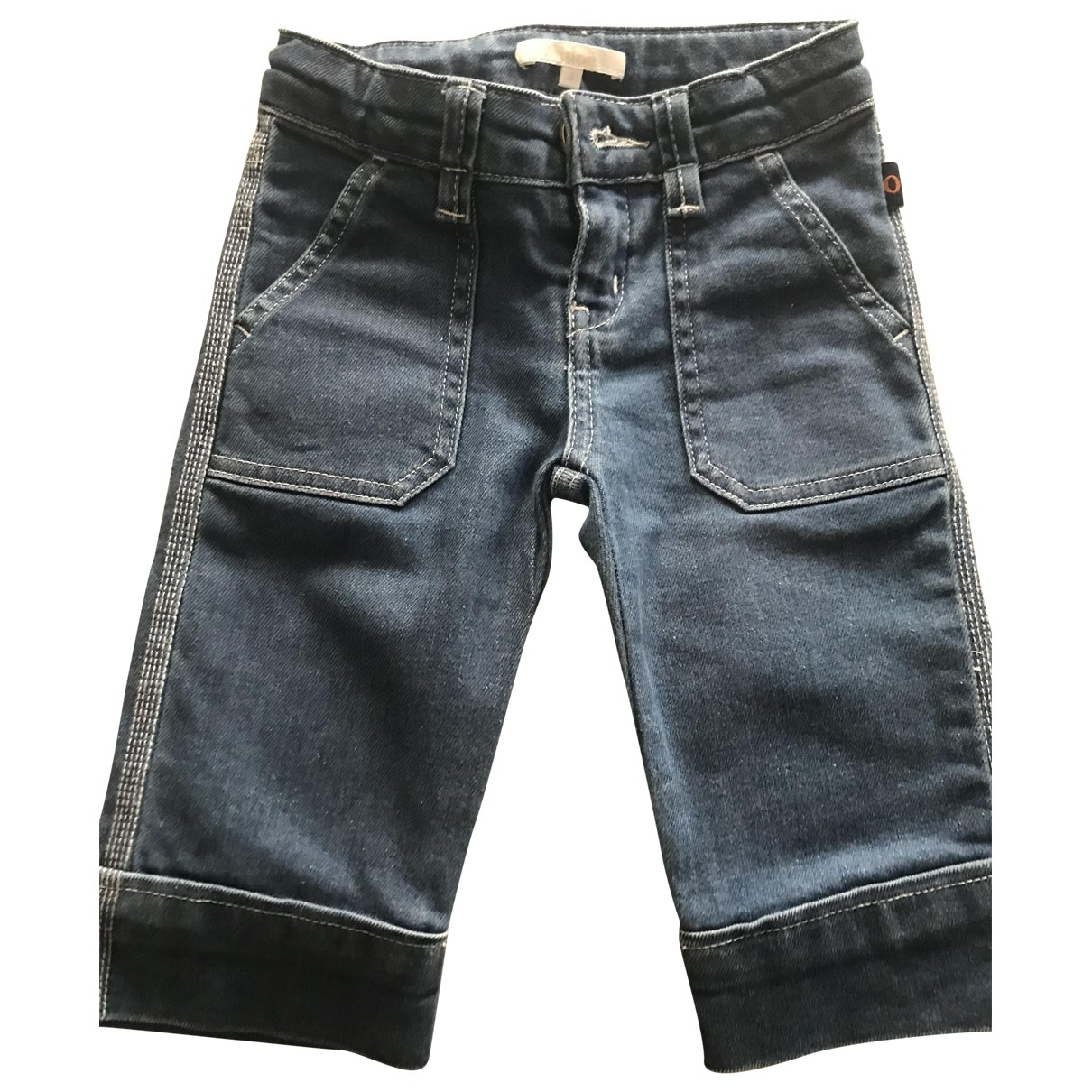 Chloé \N Blue Cotton Trousers for Kids 4 years - up to 102cm FR