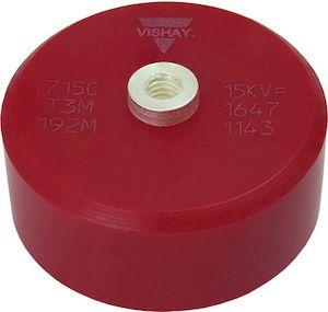 Vishay Single Layer Ceramic Capacitor (SLCC) 1.3nF 34 kVrms, 50 kV dc ±20% N4700 Dielectric 715C50KT Series Screw Mount (20)