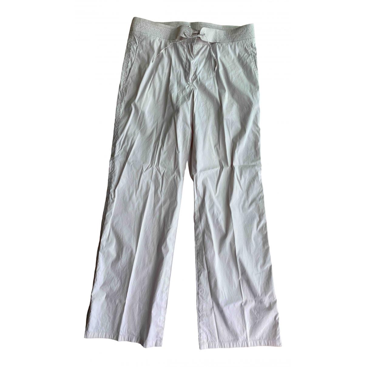 Jil Sander \N Pink Cotton Trousers for Women 40 FR
