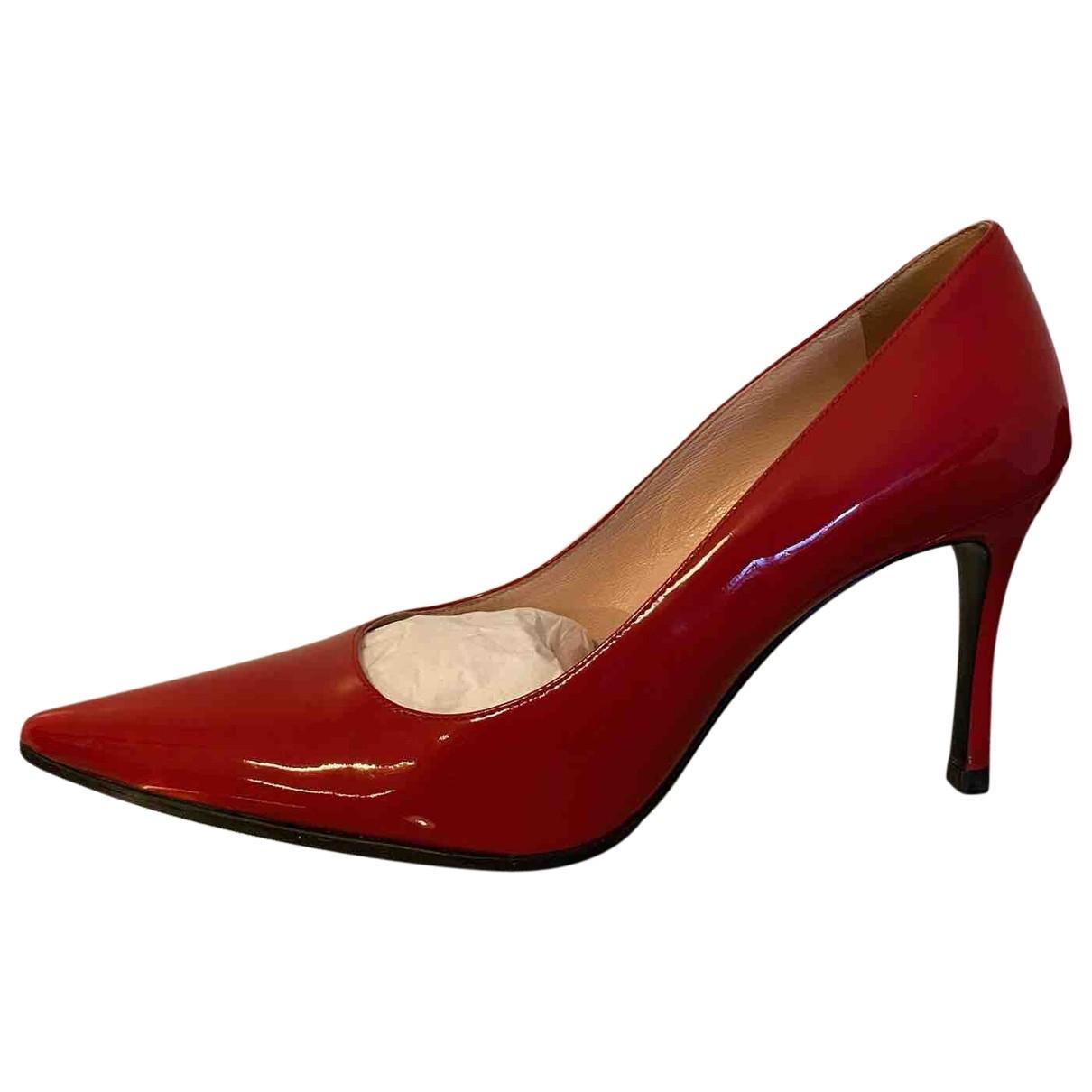 Miu Miu - Escarpins   pour femme en cuir verni - rouge