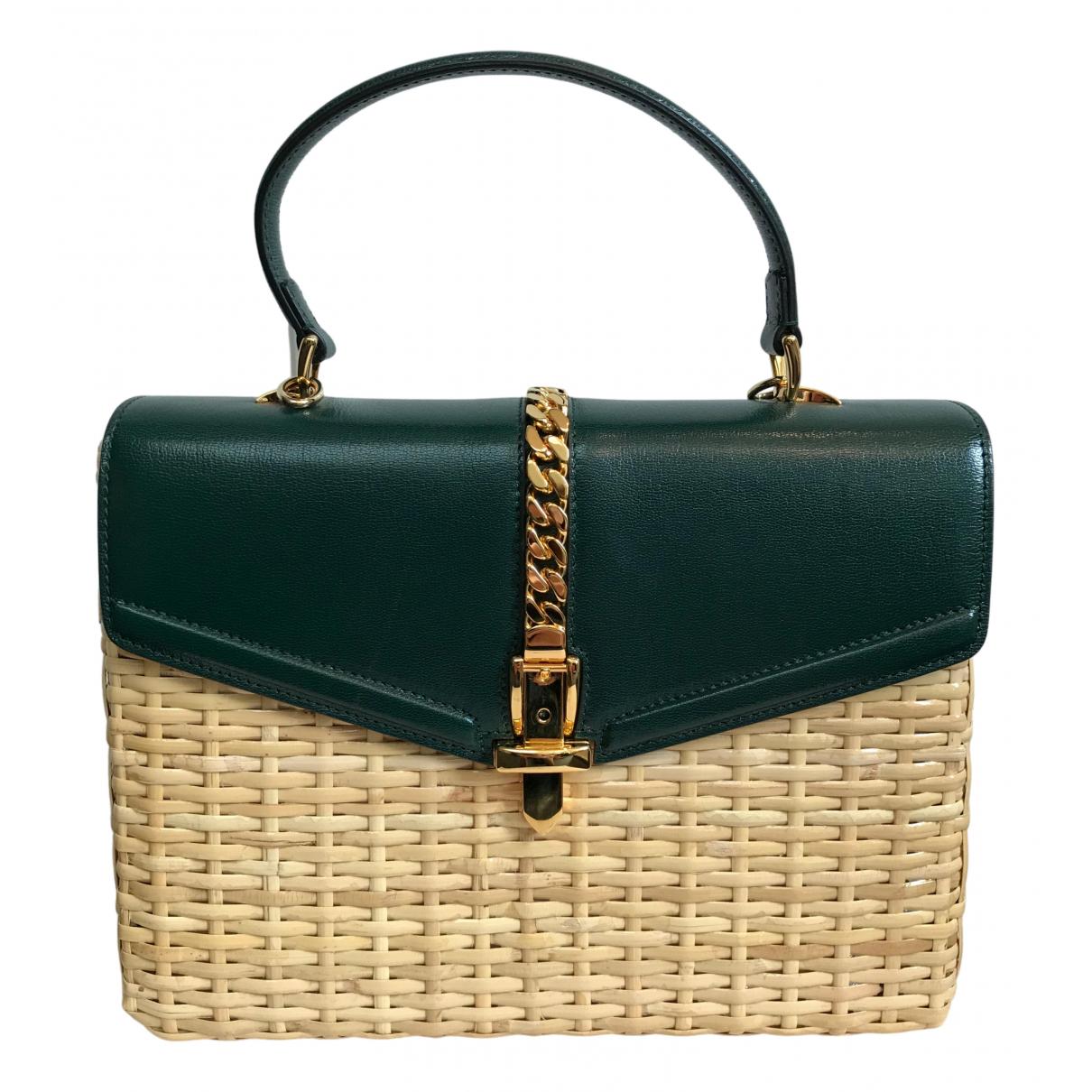 Gucci \N Handtasche in  Beige Stroh