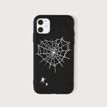 iPhone Huelle mit Spinnennetz Grafik