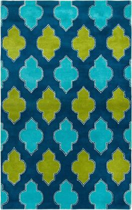 FUSFN224700090810 Fusion FN2247-8' x 10' Hand-Tufted New Zealand Wool Blend Rug in Blue  Rectangle