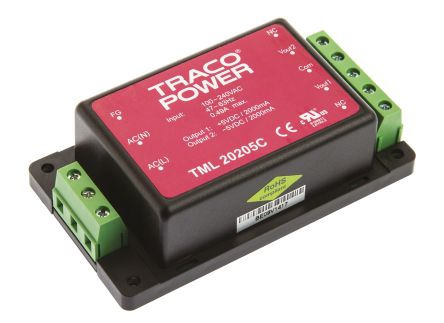 TRACOPOWER , 20W Embedded Switch Mode Power Supply SMPS, ±5V dc, Encapsulated