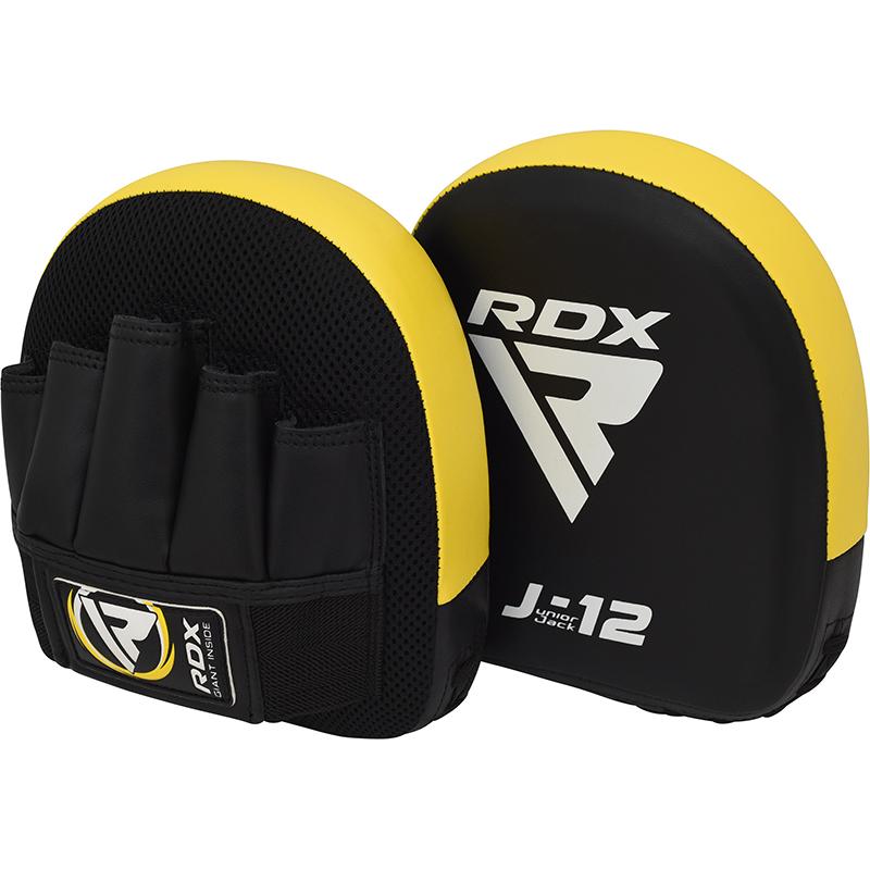 RDX J12 Mitaines pour Enfants Jaune Cuir PU