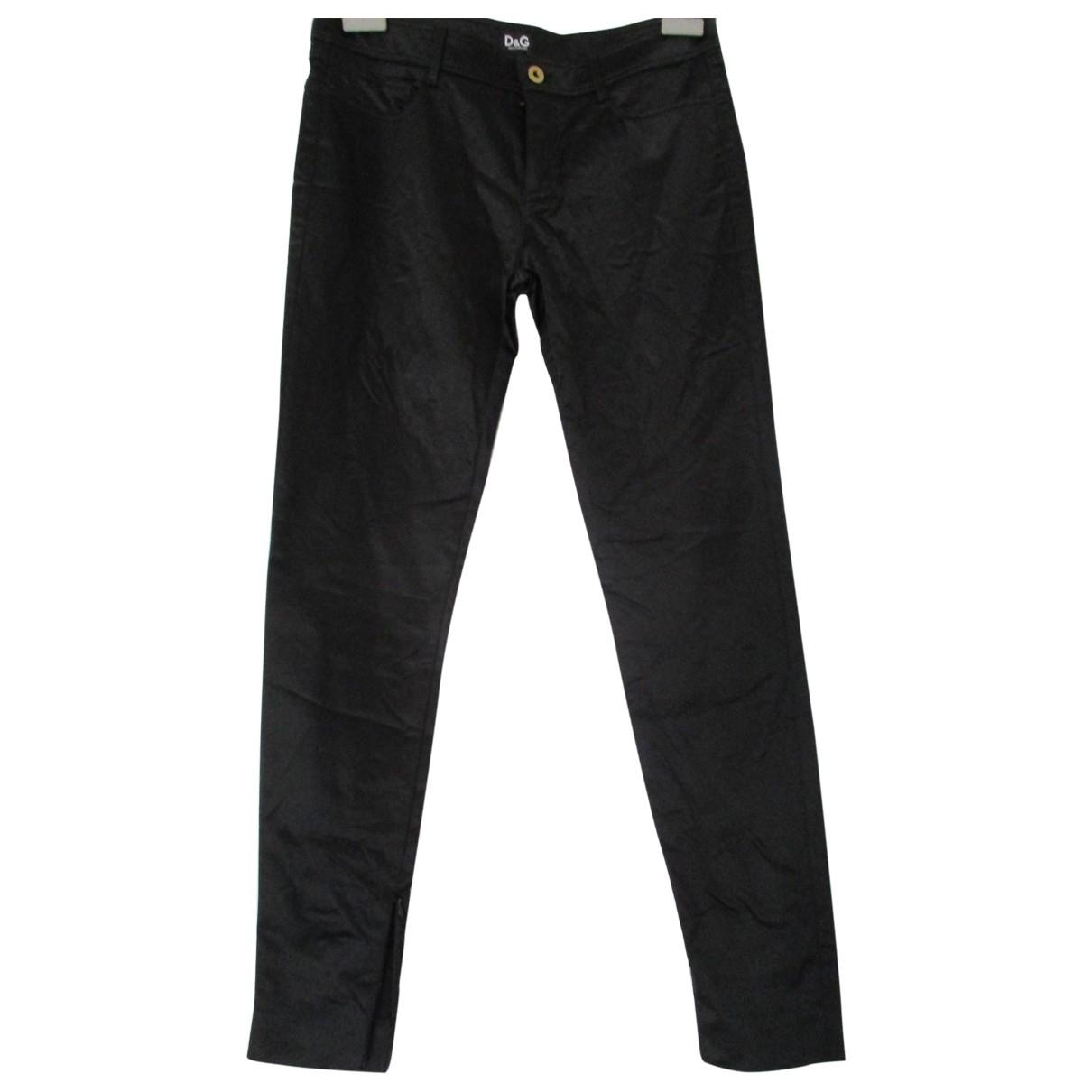 D&g \N Black Spandex Trousers for Women 42 IT