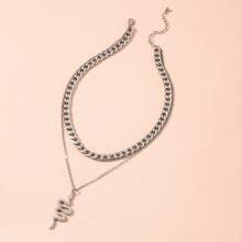 Serpentine Charm Layered Necklace