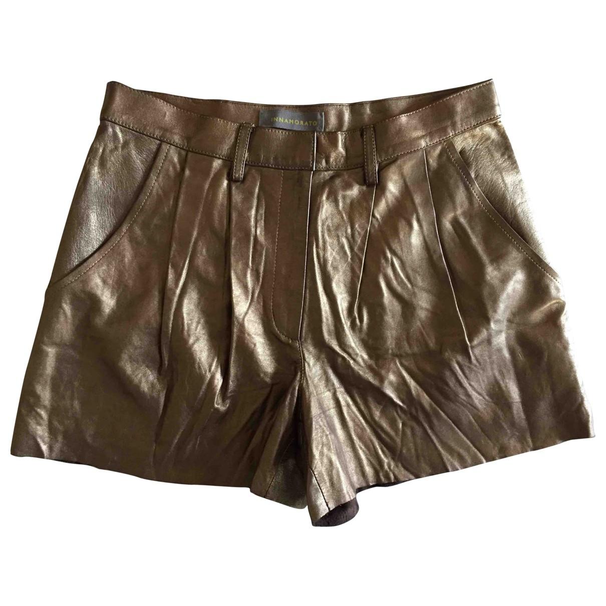 Innamorato \N Shorts in  Metallic Leder