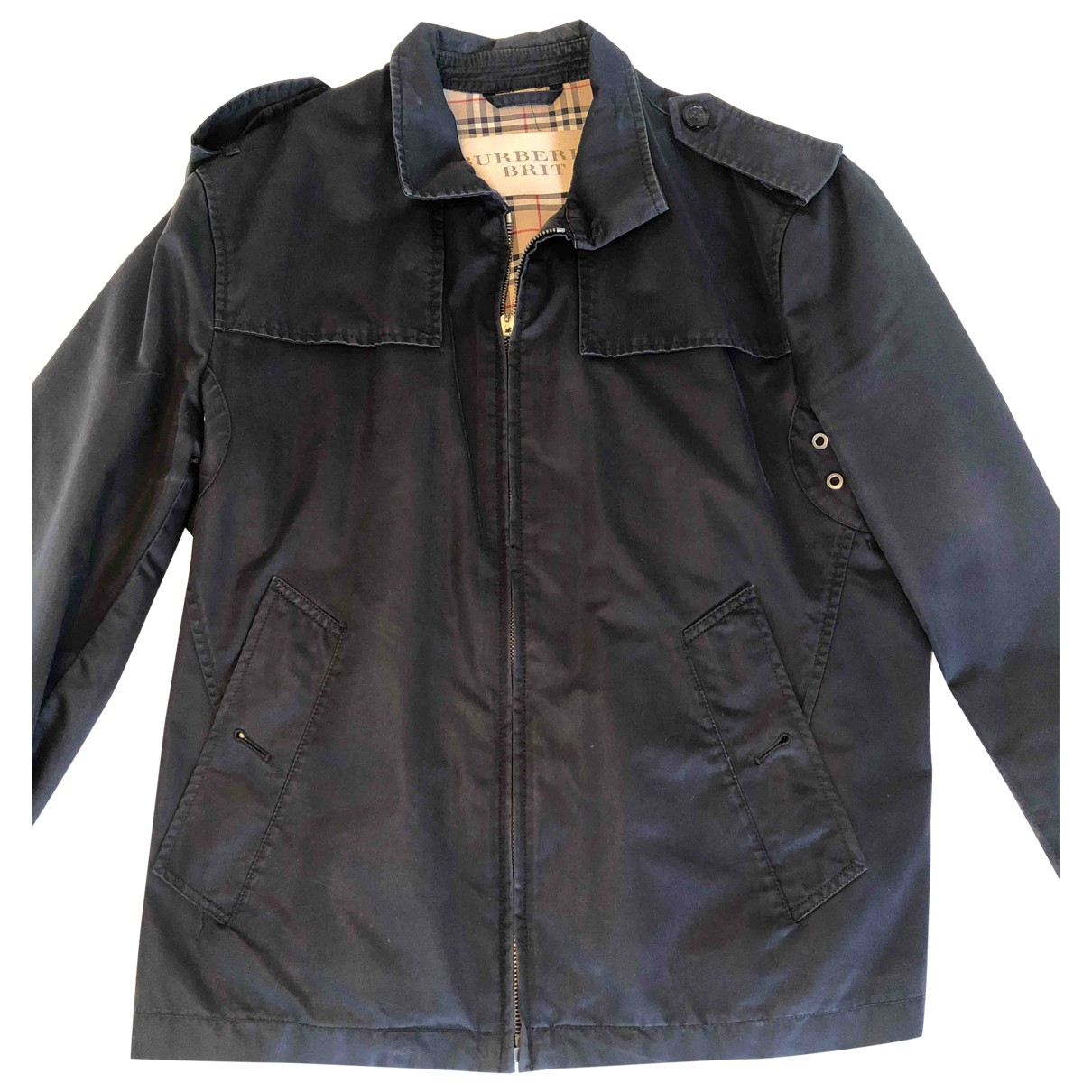 Burberry \N Black Cotton jacket  for Men M International