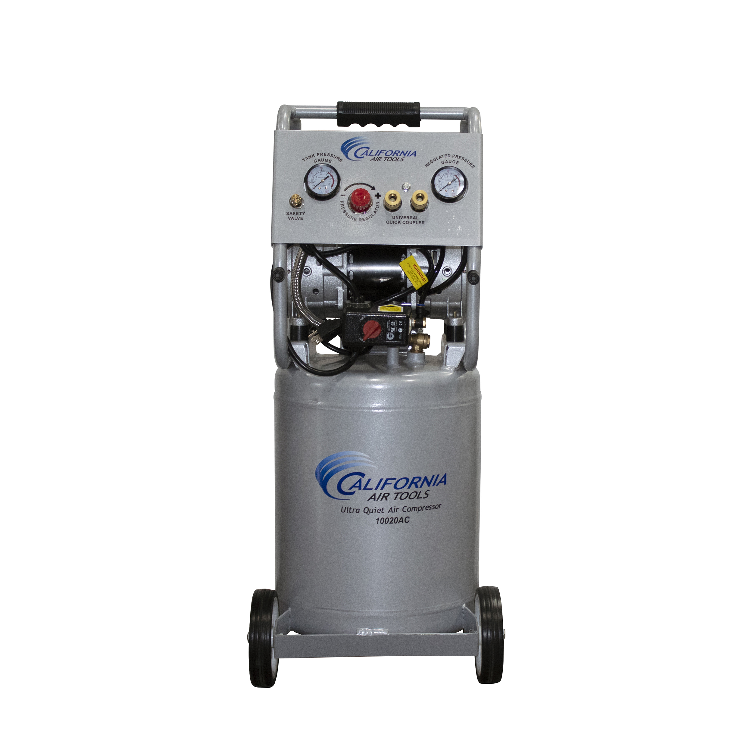 Ultra Quiet and Oil-Free 2 HP, 10 Gallon Aluminum Tank Air Compressor with Auto Drain
