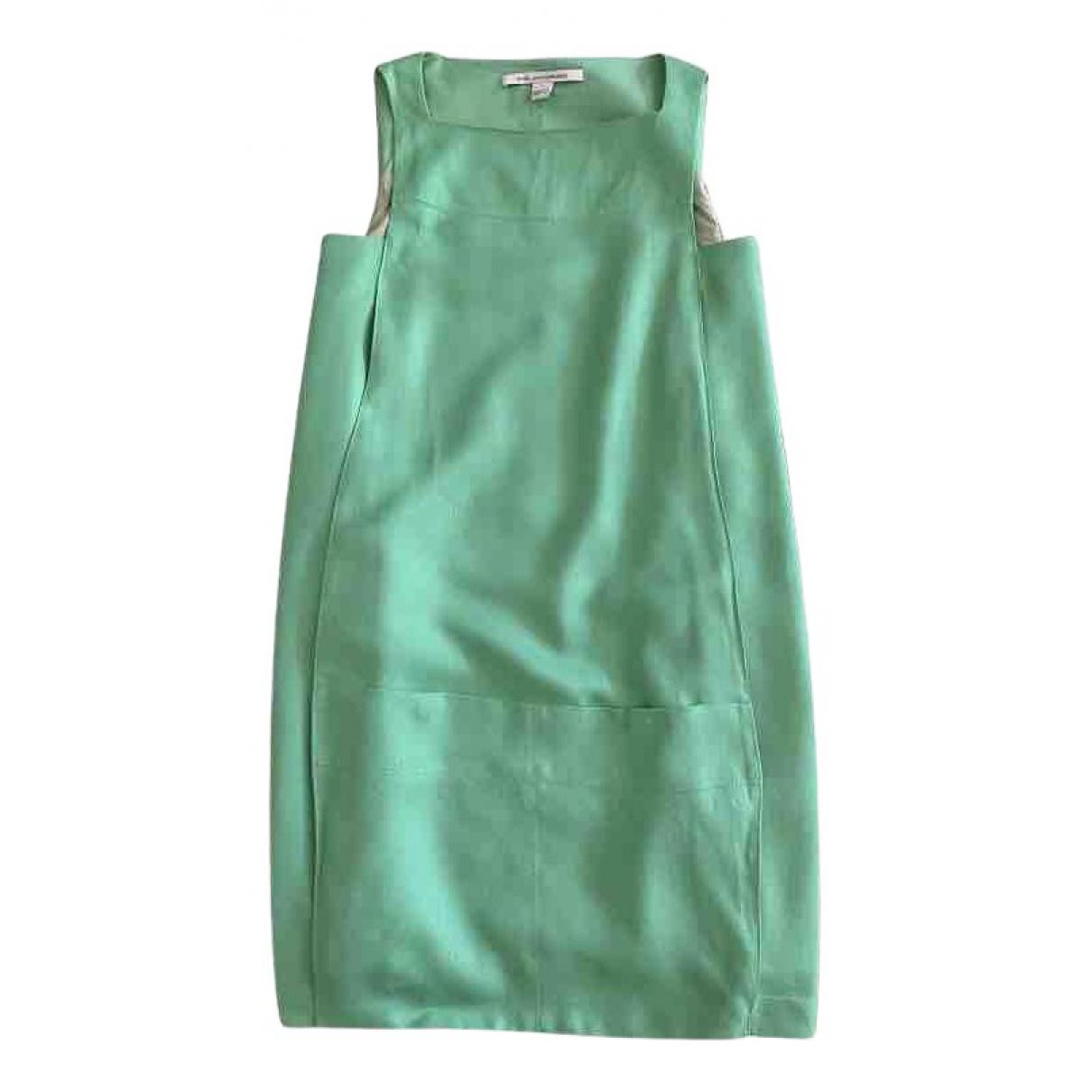Diane Von Furstenberg \N Kleid in  Gruen Viskose
