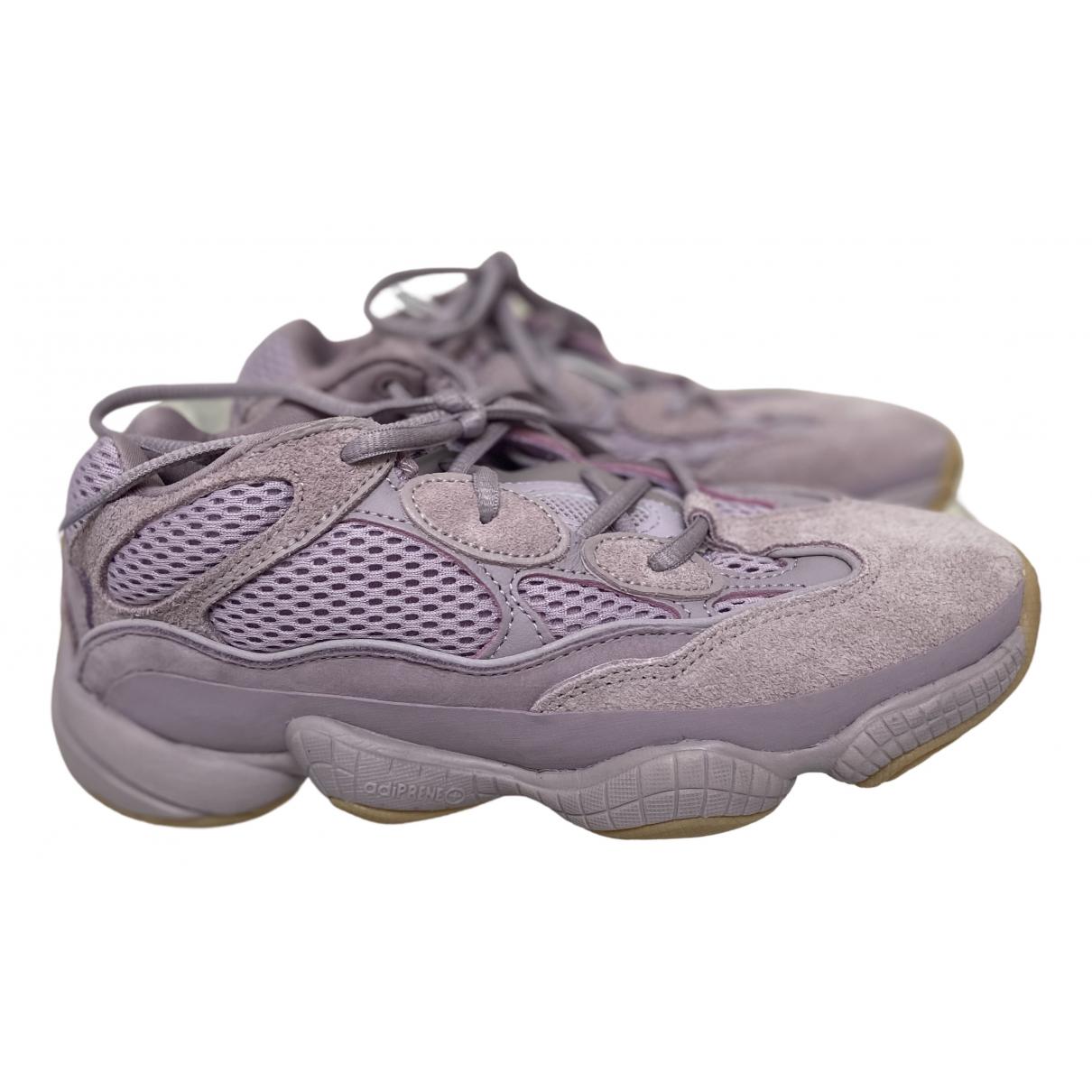 Yeezy X Adidas - Baskets 500 pour femme en suede - rose