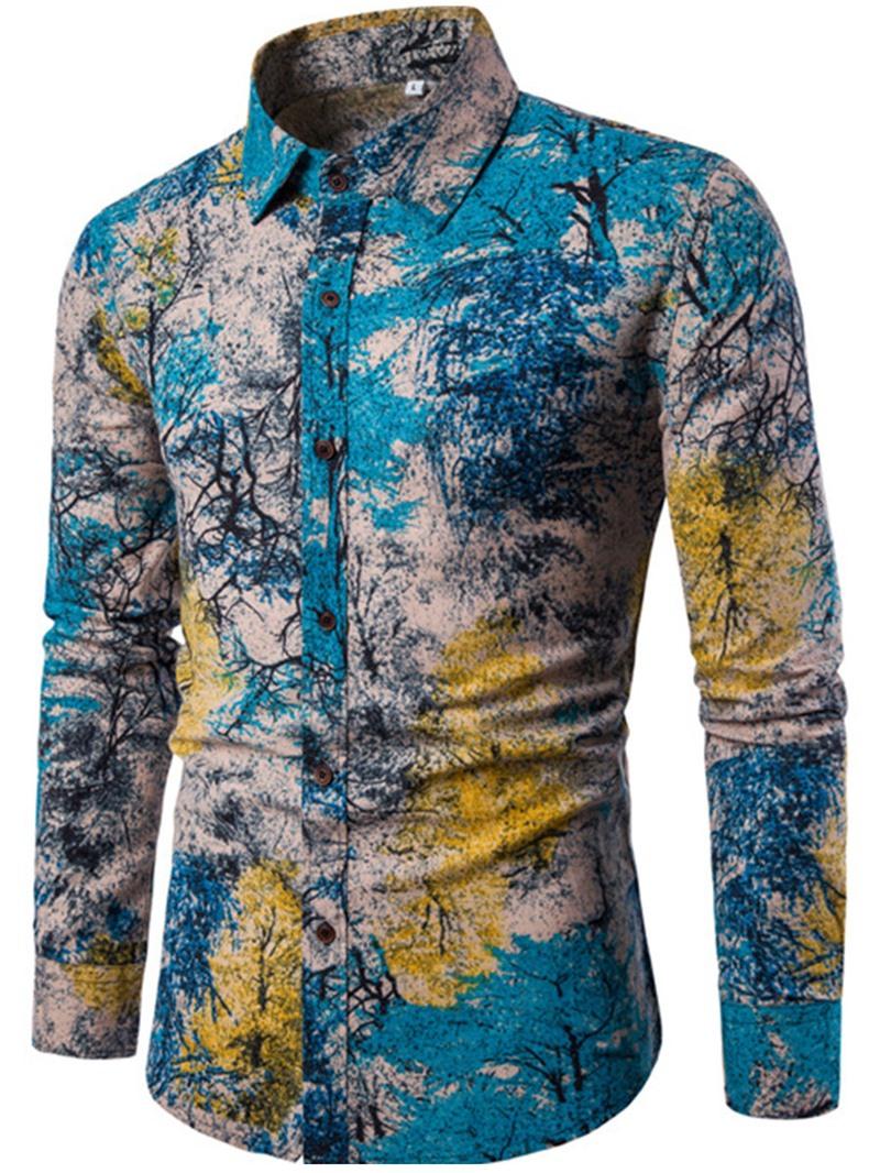 Ericdress Ethnic Style Print Men's Shirt