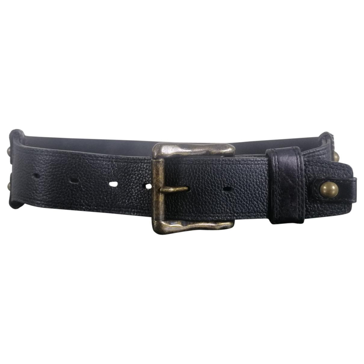 Moussy \N Guertel in  Schwarz Leder