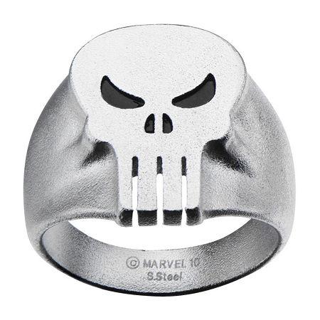 Marvel Punisher Skull Mens Stainless Steel Ring, 10 , No Color Family