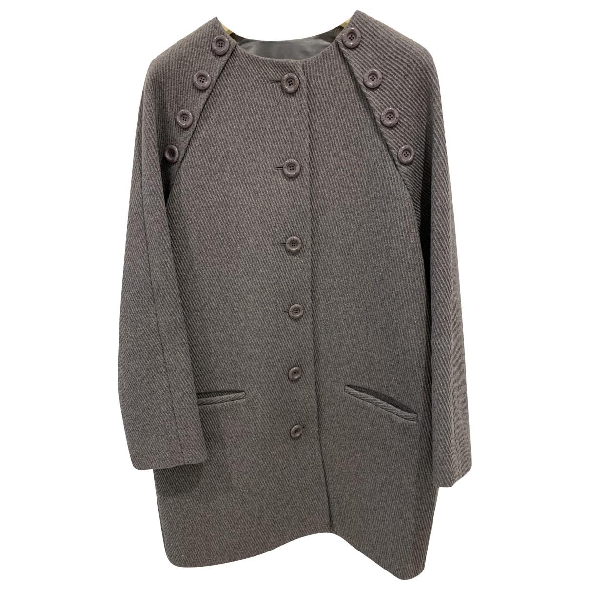 Moschino \N Maentel in  Grau Wolle