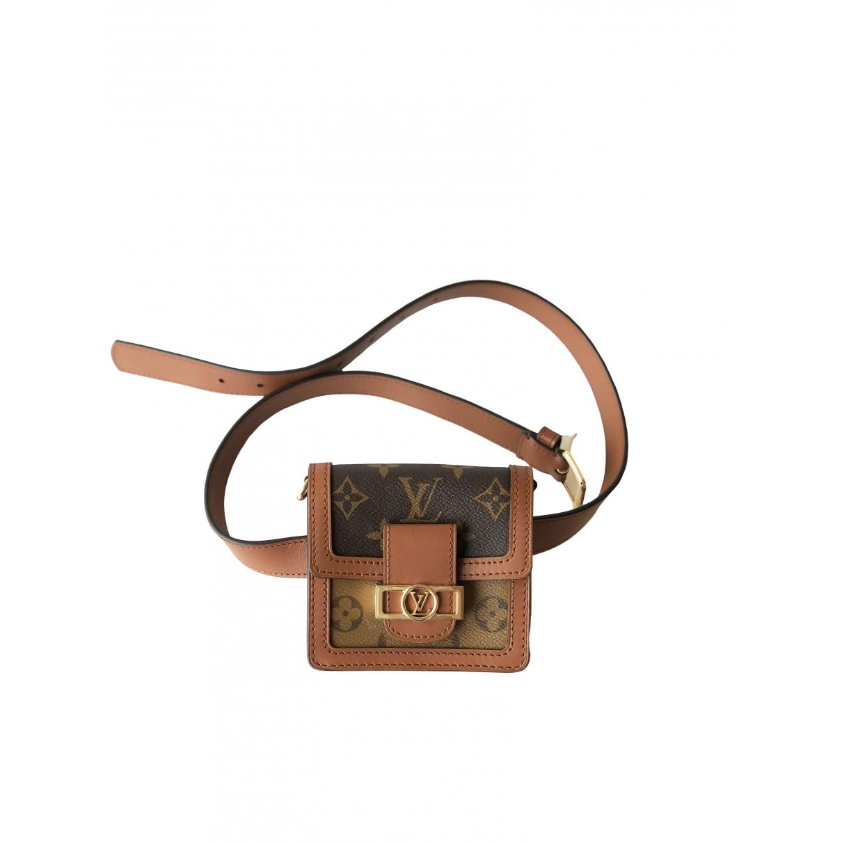 Louis Vuitton Dauphine Belt Bag Clutch in  Bunt Leinen